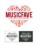 Music Fave Logo Royalty Free Stock Photo