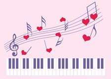 Music for the favourite. Music for favourite in the Valentine's day Stock Image