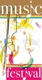 Music festival. Design made in adobe illustrator Royalty Free Stock Photos
