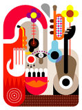 Music Festival. Abstract vector illustration royalty free illustration