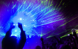 Music festival. With laser show Stock Image