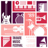 Music festival abstract vector background Royalty Free Stock Photography
