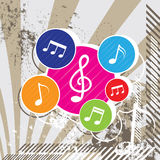 Music festival background design Stock Photo