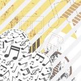 Music festival background design. Illustration music festival background design Stock Photos