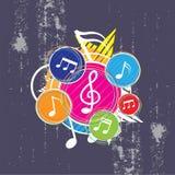 Music festival background design. Illustration music festival background design Royalty Free Stock Photos