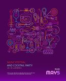 Music Festival and Cocktail Party poster Stock Photo