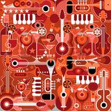 Music and Cocktail Party royalty free illustration