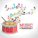 Music festival design. Stock Photos