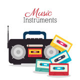 Music festival design. Royalty Free Stock Images