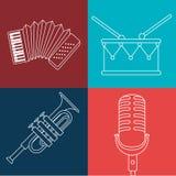 Music festival design. Royalty Free Stock Photos