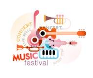 Music Festival Design Stock Images
