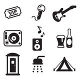 Music Festival Icons Stock Photography