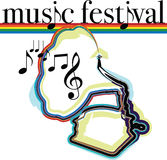 Music festival illustration. Royalty Free Stock Image