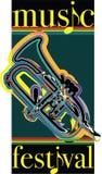 Music festival illustration. Royalty Free Stock Photo