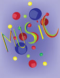 Music Festival Invitation Banner Royalty Free Stock Photography
