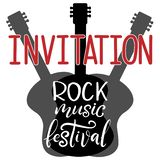 Music festival lettering vector illustration vector illustration