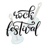 Music festival lettering vector illustration stock illustration