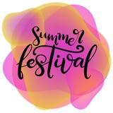 Music festival lettering vector illustration royalty free illustration