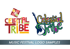 Music festival logo. Celestial tribe music festival logo with African tribe music style and new generation music style stock illustration