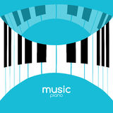 Music festival poster background. Musical jazz concert piano music cafe promotional poster Stock Photography