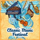 Music festival poster Stock Image