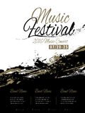 Music festival poster design Stock Image
