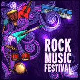 Music festival poster Royalty Free Stock Photography