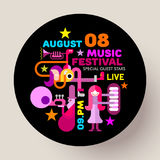 Music Festival round template design Stock Photography