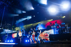 Music festival Topfest 2015, Piestany, Slovakia Royalty Free Stock Photography
