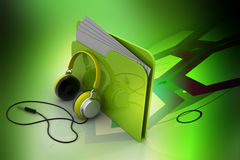Music file folder. In color background Royalty Free Stock Photography