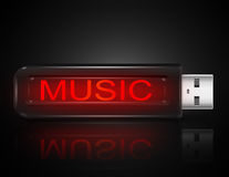 Music files concept. Royalty Free Stock Photography