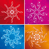 Music flakes. Flakes made from treble clefs stock illustration