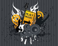 Music Flames. Grunge Music Flames Vector Illustration Royalty Free Stock Images