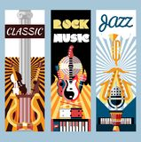 Music flat banners set Royalty Free Stock Photo