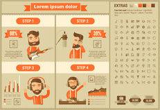 Music flat design Infographic Template Royalty Free Stock Photography