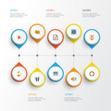 Music Flat Icons Set. Collection Of Shellac, Rhythm, Pianoforte And Other Elements. Also Includes Symbols Such As Rhythm. Music Flat Icons Set. Collection Of Royalty Free Stock Images