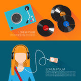 Music flat vector illustration Royalty Free Stock Photography
