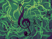 Music floral background Stock Photo