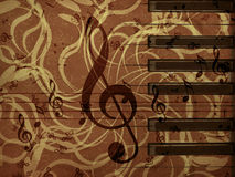 Music floral background Stock Image