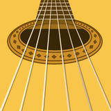 Music flyer or background with acoustic guitar Stock Photography