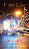 Music flyer 1 Royalty Free Stock Images