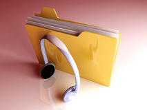 Music Folder Stock Image