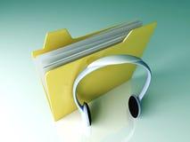 Music Folder Royalty Free Stock Photo