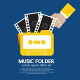 Music Folder. Music Folder Vector Illustration Stock Image