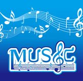 Music Font Design Royalty Free Stock Photos