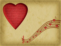 Music is the food of love - Valentine background Stock Photography