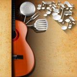 Music and Food - Menu Design Royalty Free Stock Photos