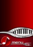 Music and Food - Menu Design Stock Image
