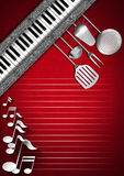 Music and Food - Menu Design Royalty Free Stock Photography