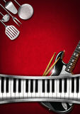 Music and Food - Menu Design Royalty Free Stock Image